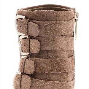 a89ad2bba9a3b Sam Edelman Shoes - Sam Edelman Lucca 4 Buckle Tan Suede Ankle Boots 9